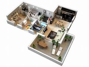plan de maison moderne 4 chambres 3d qq89 jornalagora With plans d appartements modernes