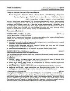 resume sles for finance executives financial executive resume exle