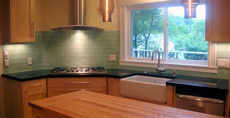 kitchen backsplash green green subway tile backsplash