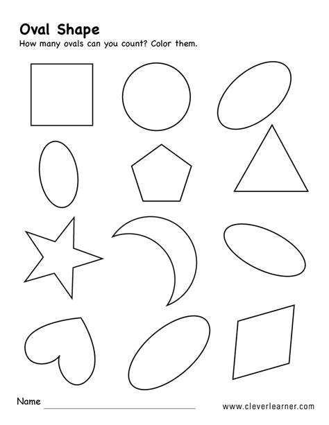 free oval shape activity worksheets for preschool children 529 | oval shape activity 2b