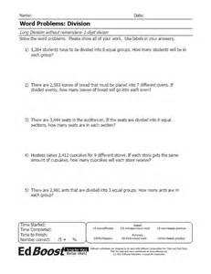 division word problems 4th grade word problems advanced division single digit divisors no remainders edboost