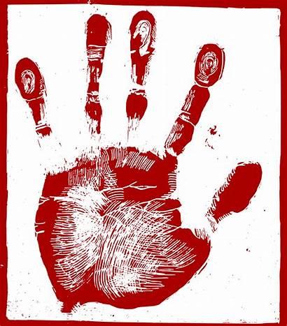 Palm Hand Clipart Clip Fingerprint Bloody Maguires