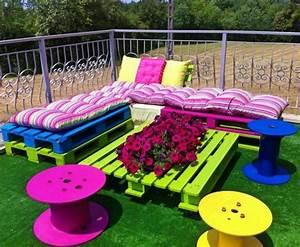 Salon De Jardin En Palette De Bois : le salon de jardin et le plaisir du choix ~ Voncanada.com Idées de Décoration