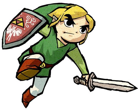 Link Dash Action Characters And Art The Legend Of Zelda