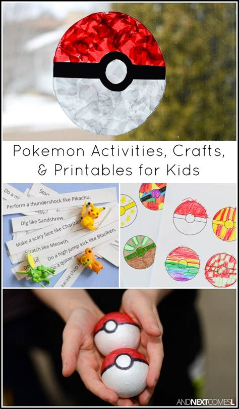 Pokemon Activities & Crafts for Kids And Next Comes L