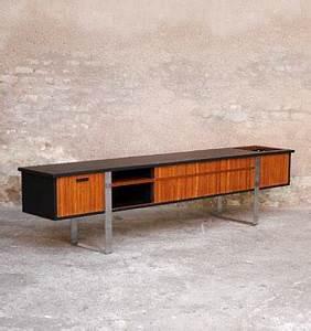 Meuble Tv Vintage Scandinave : enfilade vinyle meuble tv vintage scandinave en teck gentlemen designers ~ Teatrodelosmanantiales.com Idées de Décoration