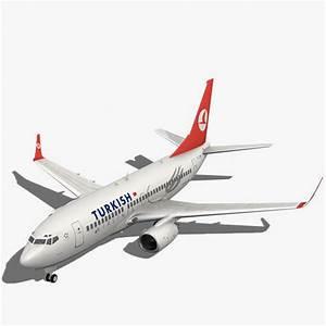 3dsmax turkish airlines boeing plane