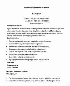 registered nurse resume example 7 free word pdf With entry level registered nurse resume