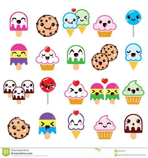 Halloween Candy Dishes Animated by Cute Kawaii Food Characters Cupcake Ice Cream Cookie