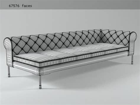 canapé sketchup barocco canape terminal 248 3d model zanotta