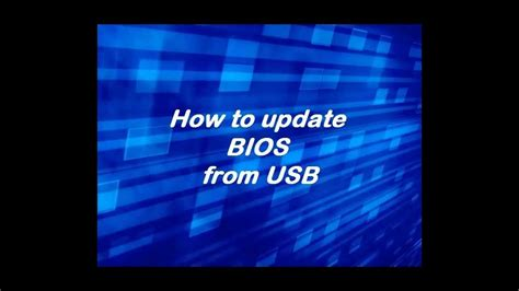 How To Update Bios From Usb Youtube