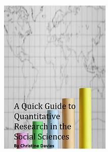 A Quick Guide To Quantitative Research In The Social