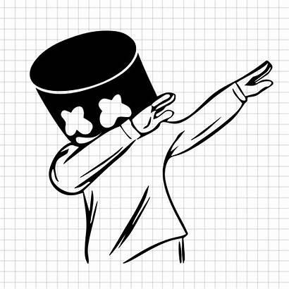 Marshmello Dj Svg Dab Marshmallows Happy Vector