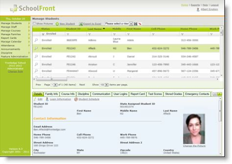 School Information System Thesis by Homeold Schoolfront Hosted School Management Software