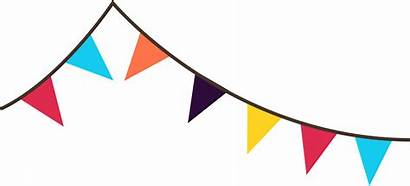 Banner Flag Clipart Clip Bunting Flags Party