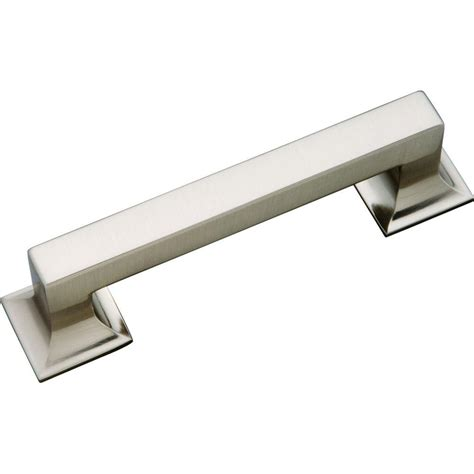 stainless steel cabinet hardware hickory hardware studio collection 96 mm stainless steel