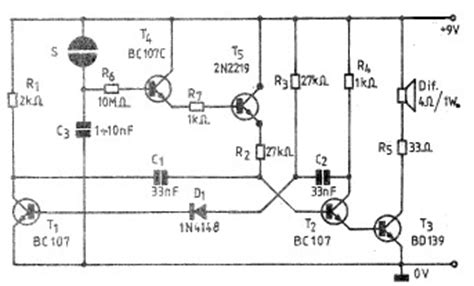 Electronic Bell Circuit Diagram by Simple Electronic Bell Circuit Using Transistors
