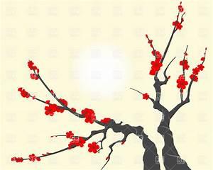 Sakura blossom branch, with cherry flowers Royalty Free ...