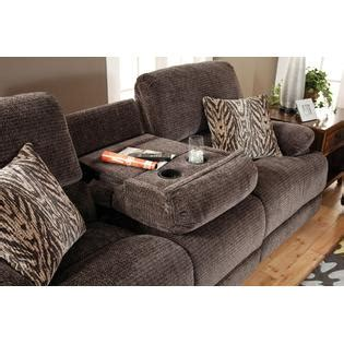 Fabric Reclining Loveseat With Console by Esofastore Living Room 3pc Sofa Set Chenille Fabric Sofa W