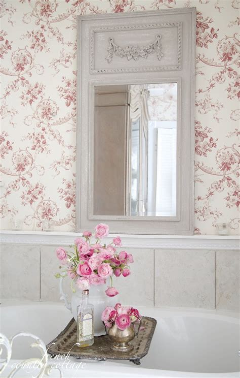 shabby chic bathroom wallpaper french inspired find french country cottage