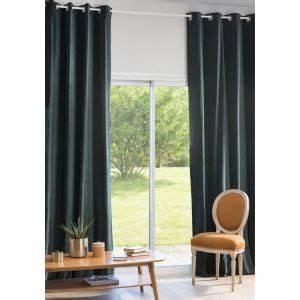 Rideau Velours Vert : rideau illets en velours gris 140x300 maisons du monde ~ Teatrodelosmanantiales.com Idées de Décoration