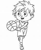 Coloring Basketball Player Topcoloringpages Pages Cartoon sketch template
