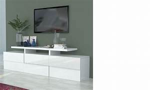 Meuble TV Blanc Laqu Design BETTY