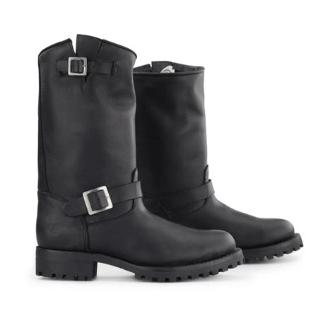 mens buckle biker boots grinders wild one unisex mens womens leather buckle