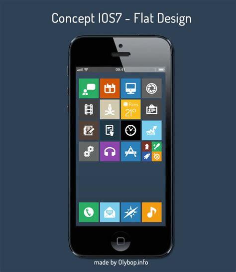 concept ios 7 flat design olybop
