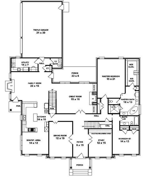 5 bedroom 4 bathroom house plans 653902 two 5 bedroom 4 5 bath traditional