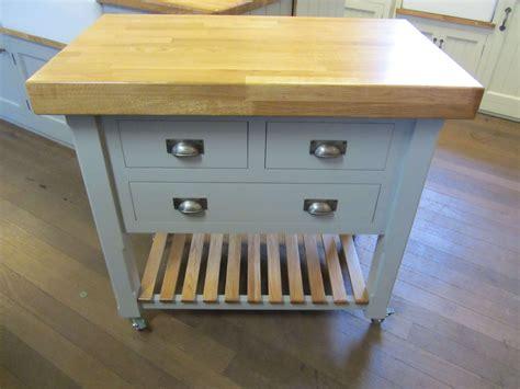 mm  mm butchers block  wheels   drawers