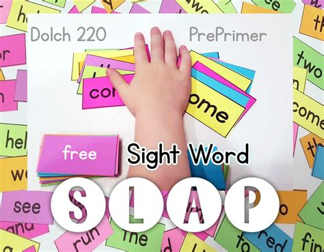 Free Sight Word Slap Game