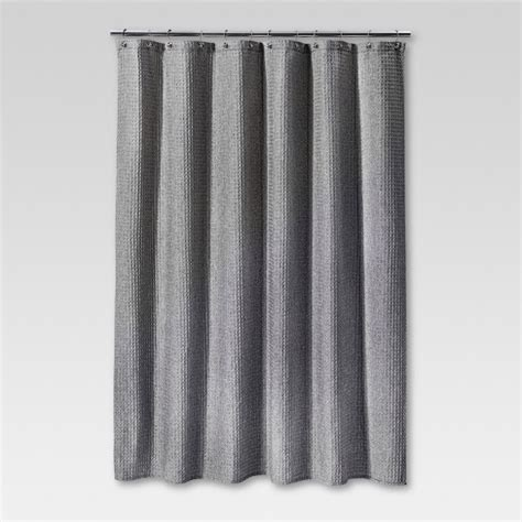 Shower Curtain Gray by Heathered Waffle Shower Curtain Gray Threshold Target