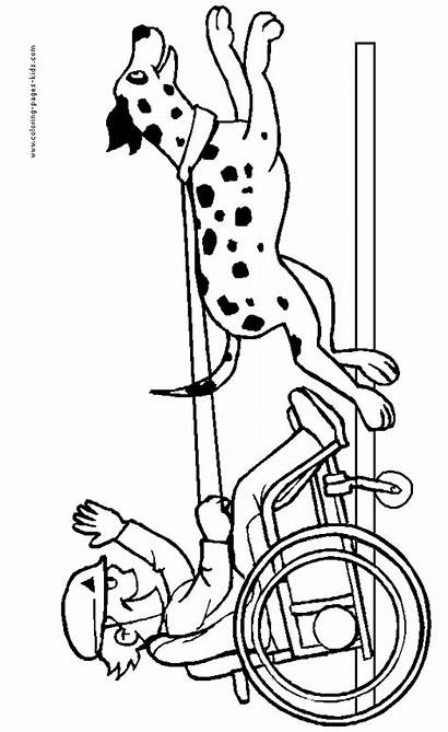 Coloring Pages Disabilities Disability Printable Disabled Colouring