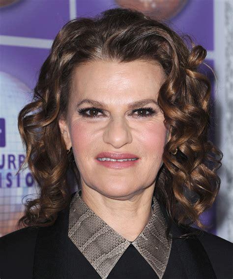 Sandra Bernhard Medium Curly Formal Hairstyle   Dark