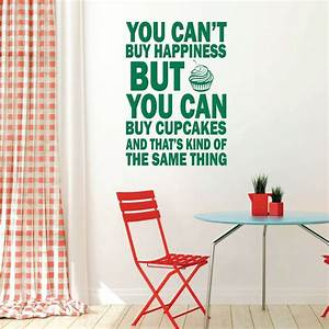 cupcakes can39t buy happiness vinyl wall decal wall With where can you buy vinyl letters