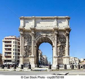 Porte 3 Beauséjour Marseille : stock image of triumphal arc porte also known as porte royale in marseille csp26753169 ~ Gottalentnigeria.com Avis de Voitures