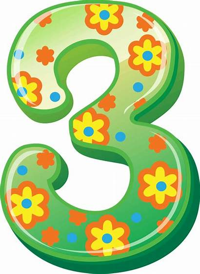 Number Clipart Card Clip Numbers Transparent Birthday