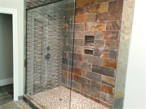 rustic shower tile design rustic brick bathroom wall