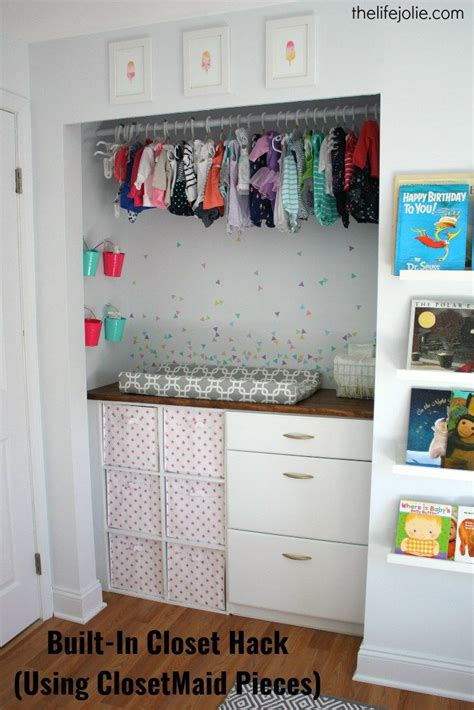 Built In Closet Organization Ideas by Built In Closet Hack For Bubbles Nursery Using