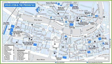Carte Touristique Du Centre De La by Carte De Lyon Dans Le Rh 244 Ne Carte Et Plan De La Ville De