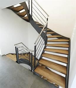 Stahltreppe Mit Holzstufen : stahl holztreppen flachstahltreppen zh 336 ~ Michelbontemps.com Haus und Dekorationen