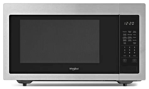 whirlpool wmchz  cu ft countertop microwave abt