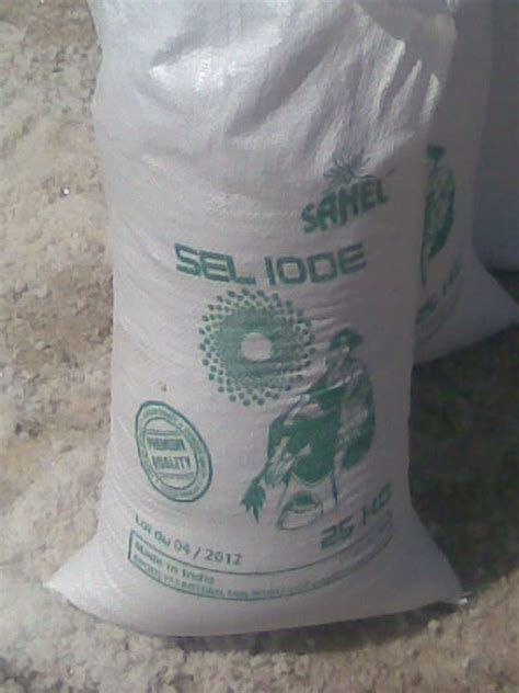gros sel et sel fin iod 201 aucune a determiner avec le client sacs de 25kg conteneur 20
