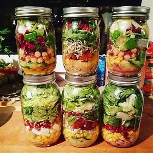 Salatbox Zum Mitnehmen : salat im glas auf vorrat in 2019 gesundes essen ~ A.2002-acura-tl-radio.info Haus und Dekorationen