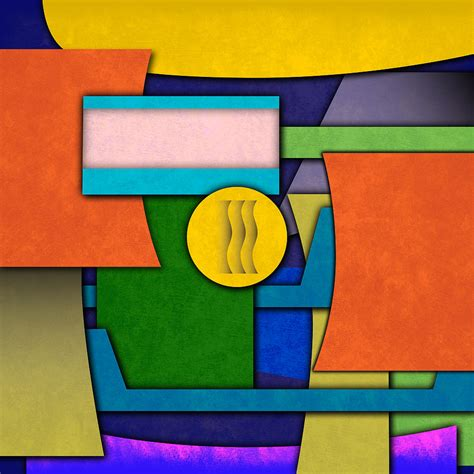 Abstract Modern Shapes by Abstract Shapes Color One Digital By Gary Grayson