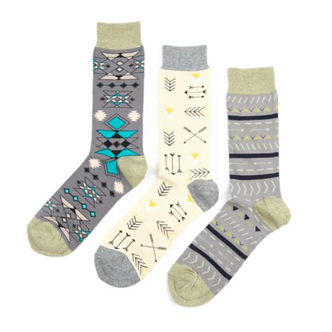 set of 3 assorted color fine cotton mens monogrammed wild fennel root sock assorted set of 3 sock it up