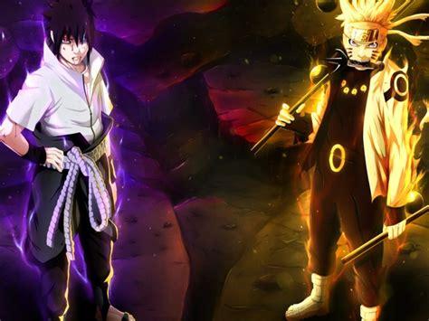 Naruto Uzumaki Sasuke Uchiha Anime 4k Wallpaper