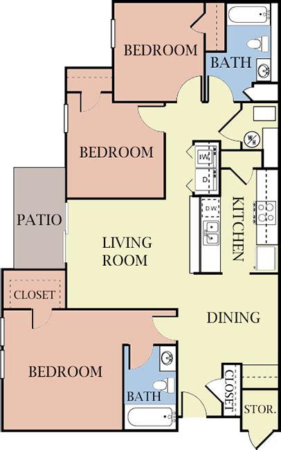 2 bedroom 2 bath apartments in richmond va 2 3 bedroom apartments for rent in richmond va