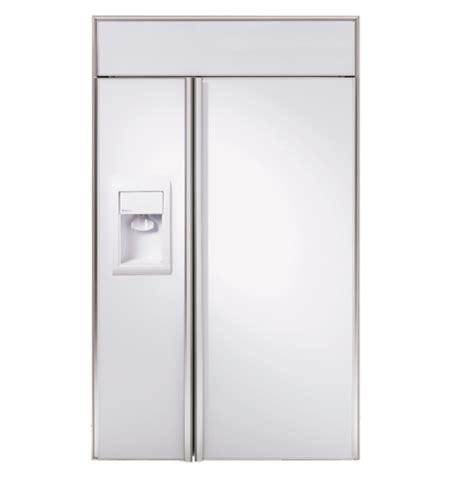 ge monogram  built  side  side refrigerator  dispenser ziswdr ge appliances